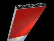 Schrikhekplank 5000mm lang VERZWAARD blokmotief. RVV BB16-1