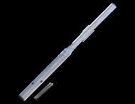 Rohrpfost Flaschenhals 3400 mm über Boden