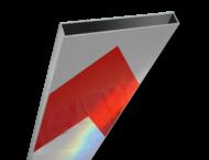 Schrikhekplank 5000mm lang kokerprofiel pijlmotief. RVV BB18-1