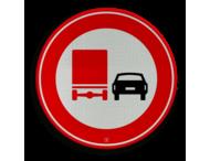 Verkeersbord RVV F03 - Vrachtverkeer - verboden in te halen