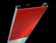 Schrikhekplank 5000mm lang C-profiel blokmotief. RVV BB16-1