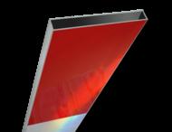 Schrikhekplank 1500mm lang kokerprofiel blokmotief. RVV BB16-1