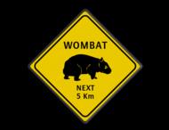 Verkeersbord Australie - WOMBATS
