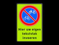 Bord E3 - Verboden te parkeren voor (brom)fietsers + eigen tekst