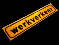 Magneetbord 1500x300x1,5mm geel FLUOR 'WERKVERKEER'