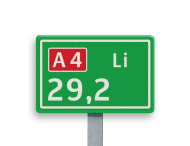 Hectometerbord BB08-1 [ Li ]
