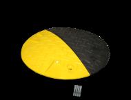 Snelheidsremmer Ø420x50mm hoogte geel/zwart