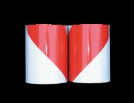 Markeertape reflecterend klasse 2 - 9 meter per rol - 141mm - links/rechts