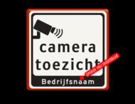 Tekstbord Cameratoezicht | Bedrijfsnaam - BP07