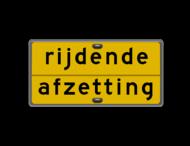Tekstbord 1180x600mm geel/zwart + grijsstand