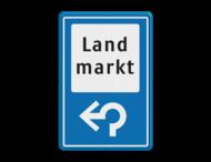 Verkeersbord RVV BW101_LANDMARKT