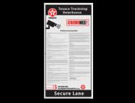 Informatiebord trucks - CRIMNEE - 500x1000x4mm Ingang