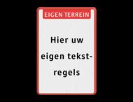Tekstbord eigen tekst met banner