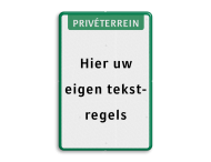 Tekstbord  met banner