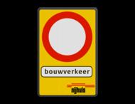 Verkeersbord RVV C01 + 3 txt_logo