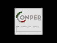 Informatiebord vierkant FC - Conper Foods BVBA