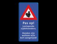 Verkeersbord Zijdehoenders - reflecterend