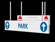Verwijsbord AL-KOKER - RAL9010 - auto - 1300x200x15mm - Erasmus