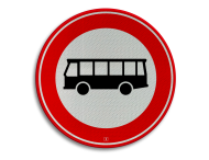 Verkeersbord RVV C07a - Gesloten voor bussen