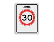 Verkeersbord RVV A01-30zb - Begin zone maximum snelheid
