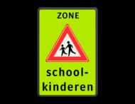 Verkeersbord Schoolzone J21 + txt