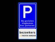 Parkeerbord + 3 tekstregels & logo