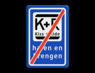 Informatiebord KISS & RIDE - halen en brengen - einde - L52e