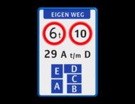 Verkeersbord - eigen weg - huisnummerverdeling