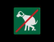 Informatiebord - geen honden uitlaten