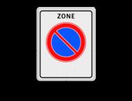 Verkeersbord RVV E01 zb - parkeerzone - Start parkeerzone