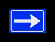 Verkeersbord RVV C04 - Eenrichtingsweg (volgen)