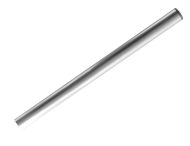 Buispaal Ø48x1000mm aluminium + afdekkap