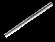 Buispaal Ø48x3000 mm boven maaiveld ALUMINIUM + afdekkap