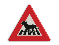 Logobord rood/wit/zwart DRIEHOEK
