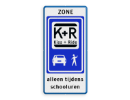 Informatiebord ZONE KISS & RIDE - pictogrammen