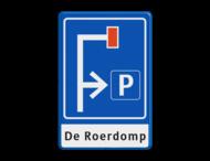 Verkeersbord RVV L09-4r - E04 + 1 regel txt