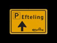 Verkeersbord WIU geel/zwart Efteling - Route