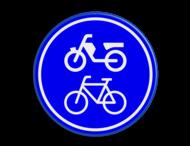 Verkeersbord RVV G12a - Verplicht fiets / bromfietspad