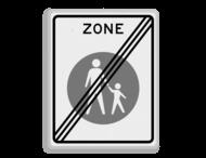 Verkeersbord RVV G07ze - Einde voetgangerszone