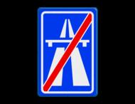 Verkeersbord RVV G02 - Einde autosnelweg