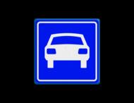 Verkeersbord RVV G03 - Autoweg