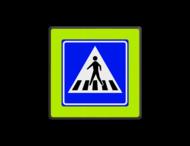 Verkeersbord RVV L02f - Voetgangers oversteekplaats / zebrapad