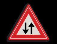 Verkeersbord RVV J29 - Vooraanduiding tegenliggers