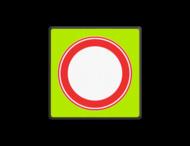 Verkeersbord RVV C01f - Gesloten voor Alle verkeer - fluor achtergrond