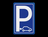 Verkeersbord E08 elektrische auto - NOS