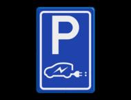 Verkeersbord E08 elektrische auto - Aliander