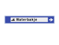 Verwijsbord watersport 1130x175x32mm