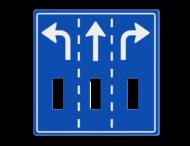 Route-, informatiebord 1180x1180 met uitsparingen voor 3x verkeerslicht - 2xø100mm
