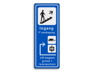 Informatiebord route - ingang - expeditie en lift