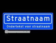 Straatnaambord 10 karakters 600x200 mm + ondertekst NEN 1772
